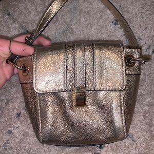 Milly gold crossbody purse